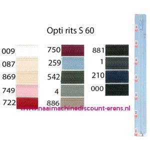 Opti rits S60 50cm deelb (stk) / 001.4802.50