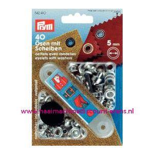 010306 / Ringen En Schijven Ms Zilverkleurig 4,0 Mm Prym 542 400