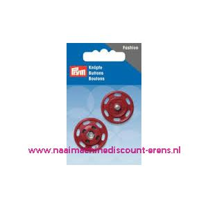Drukknoop 25 Mm rood prym art. nr. 341832 - 10312