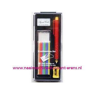 """010411 / Krijtset van Hoechstmass """"Luxe cadeau verpakking"""""""