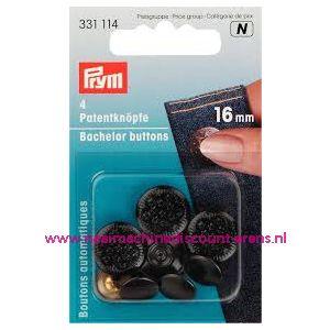 010437 / Jeansknopen zwart 8 stuks 16 Mm inslaan Prym art. nr. 331114