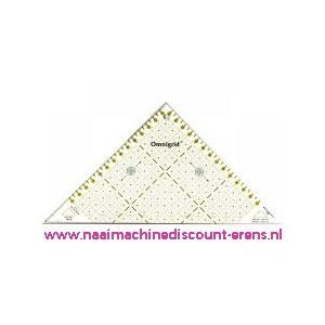 OMNIGRID liniaal half Triangle Cm maatgeving art. nr. 611314