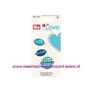 010454 / Prym Love Handmade pins blauw prym art. nr. 403740