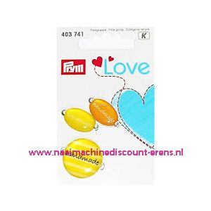 Prym Love Handmade pins geel/oranje prym art. nr. 403741 - 10456