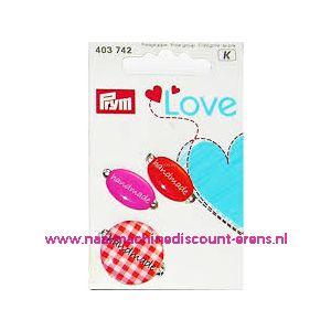 010458 / Prym Love Handmade pins oranje/rose prym art. nr. 403742