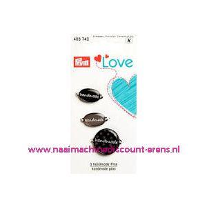 010461 / Prym Love Handmade pins zwart/grijs prym art. nr. 403743