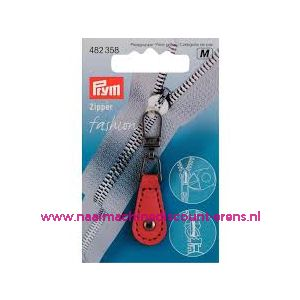 Fashion Zipper leder imitatie rood prym art. nr. 482358 - 10475