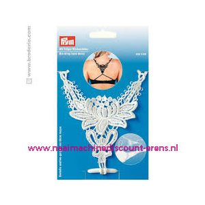 BH-bretel met rugdecor wit Prym art. nr. 991943 - 10758