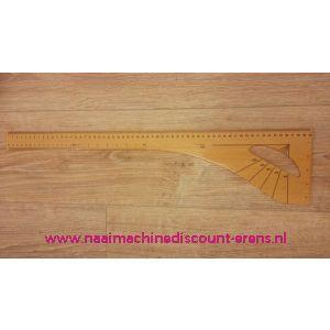 Houten coupeuse liniaal 60 Cm + Schaal + Graad + Inch