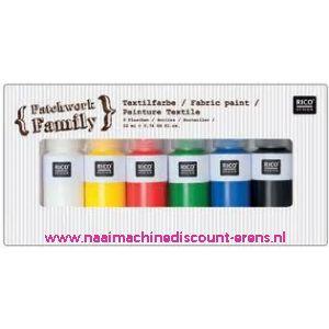 Textielverf 6 kleuren a 22 ML art. nr. 500050.131 - 10784