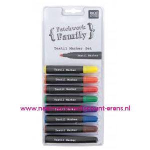 Textielstiften Dik 8 kleuren art. nr. 500050.122 - 10788