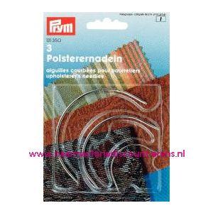 Gebogen Stoffeerdersnaald. No.2-4-5 Zilverkl.prym nr. 131350 - 1097