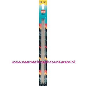 Kousenbreinaalden Staal Zilverkl.20 Cm 2,00 Mm art.nr.171235 / 001101