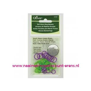 Copy of Clover 3107 Soft stitch ring markers / 011479