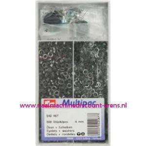 011543 / Ringen met schijven 4mm Zwart Prym art. nr. 542487