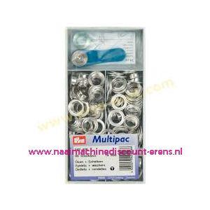 011548 / Ringen met schijven 8mm Zilver Prym art. nr. 542422