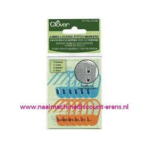 Clover 3109 Jumbo Locking Stitch Markers / 011554
