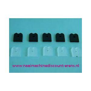 Rigilene END CAPS 12 Cm 10 stuks zwart - 11619