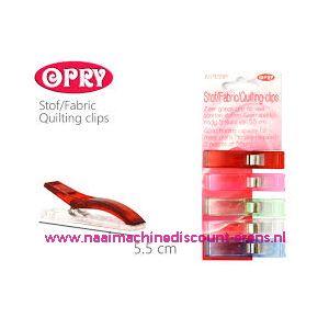OPRY stof clips extra groot 5,5 Cm 5 stuks - 11788