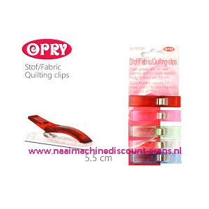 OPRY stof clips extra groot 5,5 Cm 5 stuks