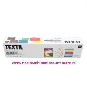 "Textilverfset ""Basic"" Rico design 40 ML 6 Stuks - 11797"
