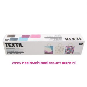 "Textilverfset ""Fashion"" Rico design 40 ML 6 Stuks - 11801"