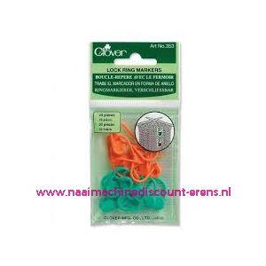 Clover 353 Locking stitch markers / 011853