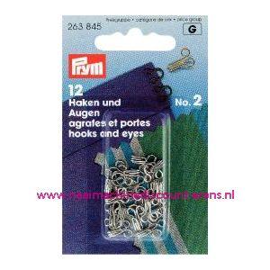 Haken En Ogen Ms 2 Ziverkleurig prym art. nr. 263845 - 1205