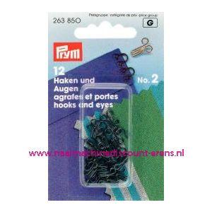 Haken En Ogen Ms 2 Zwart prym art. nr. 263850 - 1208