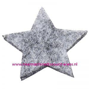 012182 / Vilt sterren dicht art. 3437511 grijs mêleerd 3 Cm 12 Stuks