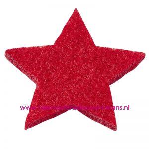 012184 / Vilt sterren dicht art. 3437513 rood 3 Cm 12 stuks