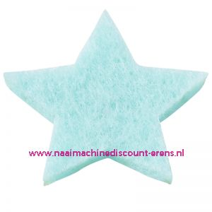 012186 / Vilt sterren dicht art. 3437515 licht blauw 3 Cm 12 stuks
