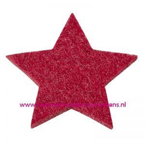 012187 / Vilt sterren dicht art. 3437551 bordeaux 3 Cm 12 stuks
