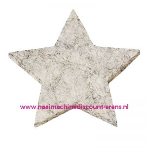 Vilt sterren dicht 3437554 schelpwit mêleerd 3 Cm 12 stuks - 12191