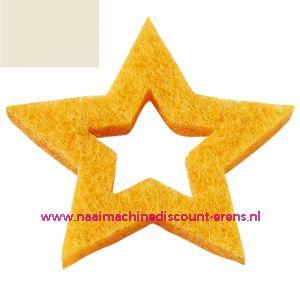 012192 / Vilt sterren open 3437520 schelpwit 3 Cm 12 stuks