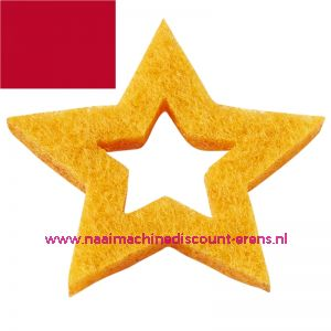 Vilt sterren open 3437523 rood 3 Cm 12 stuks - 12194