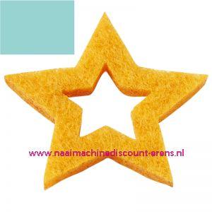 012196 / Vilt sterren open 3437525 licht blauw 3 Cm 12 stuks