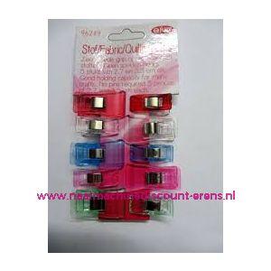 012220 / OPRY stof clips ass. 5 st. 2,7 Cm + 5 st. 3.3 Cm art. 96249