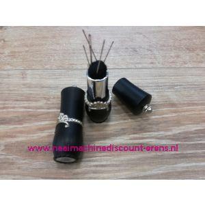 012329 / Draaibare naaldenverdeler op kussen kleur zwart