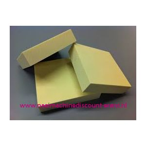 Schuim rubberplaat Polyester dik 5 Cm 80 x 80 Cm - 12363
