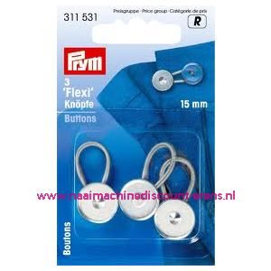 Flexi Knopen Met Lus 15 Mm prym art. nr. 311531 - 1239