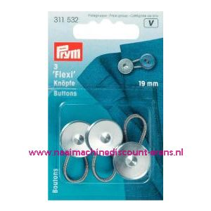 Flexi Knopen Met Lus 19 Mm prym art. nr. 311532 - 1240