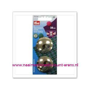 Stofknopen Ms 60 Inch Zilverkleurig 38 Mm art. nr. 323164 - 1242