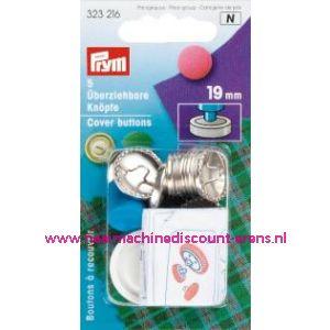 Stofknopen Ms 30 Inch Zilverkleurig 19 Mm art. nr. 323216 - 1245