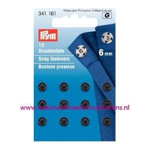Drukkers Ms Zwart 6 Mm prym art. nr. 341161 - 1249