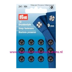 Drukkers Ms Zwart 9 Mm prym art. nr. 341164 - 1251
