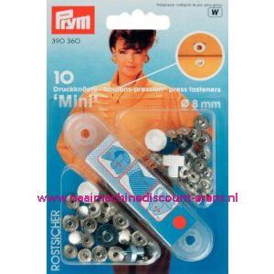 Naaivrijdrukknopen Mini Ms Ziverkleurig 8 Mm art. nr. 390360 - 1308