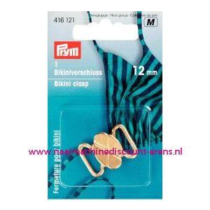 Bikinisluiting Metaal 12 Mm Goudkleurig prym art.nr. 416121 - 1360