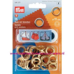 001418 / Ringen En Schijven Ms Goudkleurig 11,0 Mm art.nr. 541371