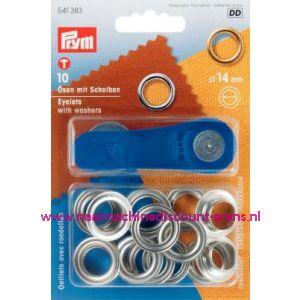 001424 / Ringen En Schijven Ms Zilverkleurig 14,0 Mm art. nr. 541383